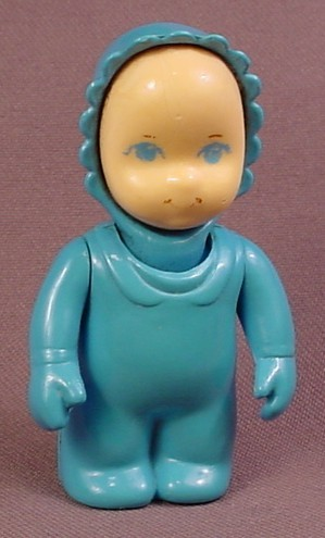 Little Tikes Original Dollhouse People Baby With Dark Blue Sleeper U0026  Bonnet, 2 5/8 Inches