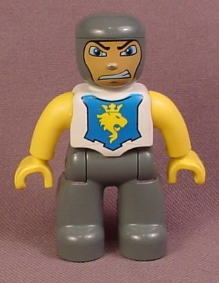 Lego Duplo 47394 Male Knight Lego Ville Articulated Figure With Blue Shield With Yellow Lion