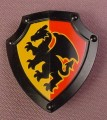 Lego Duplo 51711 Black Shield With Scalloped Top, Black Dragon On A Red Background
