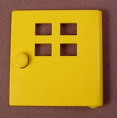 Lego Duplo X988 Yellow 1X4X3 Door With 4 Small Windows, 524-1 A Small Town, 1977