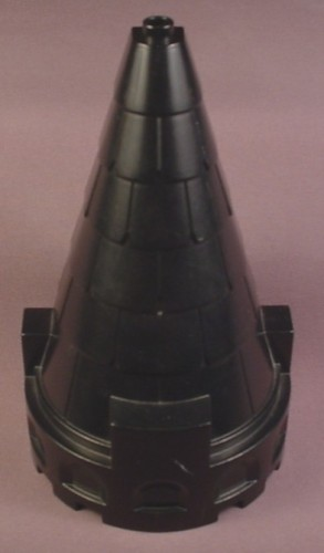 Lego Duplo 52025 Black One Half Of A Cone Shaped Tower Roof, 6X4X8, 4779 Defence