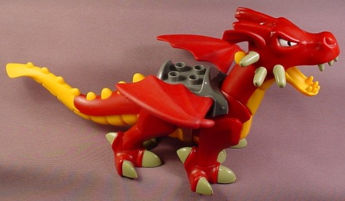 Lego Duplo 52200 Red & Yellow Dragon Animal Figure With Wings & Seat, 11 3/4 Inches