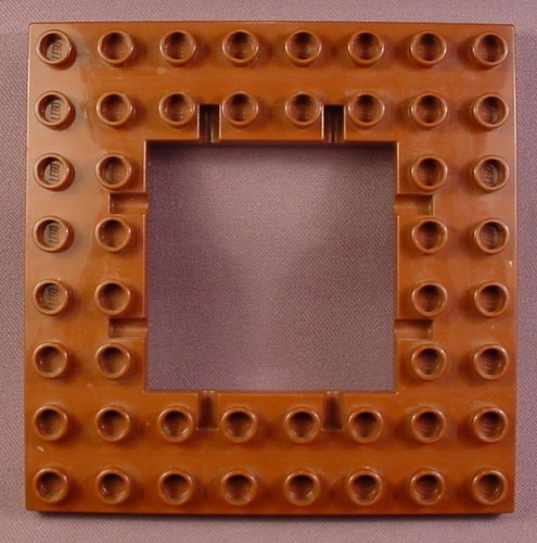 Lego Duplo 51705 Brown 8X8 Plate with Trap Door Hole & Hinge Points, 4776 4777 4975