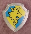 Lego Duplo 51711 Pearl Light Gray Shield With Scalloped Top, Yellow Lion On A Blue & Yellow