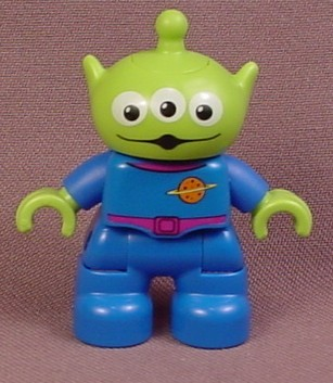 Lego Duplo Disney Toy Story 3 Eyed Green Alien Articulated Figure, 5658 5691 7598, Pizza