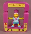 Subway 1997 The Simpsons Spinning Bartman Toy, Press The Frame Down To Make Bart