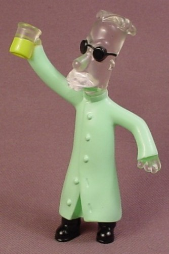 Burger King 2002 The Simpsons Professor Frink As The Invisible Man PVC Figure, 3 1/4 Inches