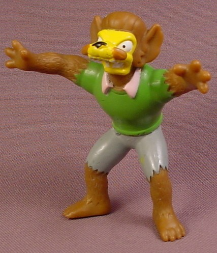 Burger King 2002 Ned Flanders As A Werewolf PVC Figure, 3 3/8 Inches Tall, Creepy Classics