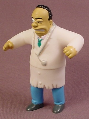 Burger King 2002 Dr Hibbert As Dr Jeckyl & Mr Hyde PVC Figure, 3 3/8 Inches Tall