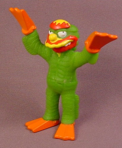 Burger King 2002 Groundskeeper Willie As The Creature From The Black Lagoon PVC Figure