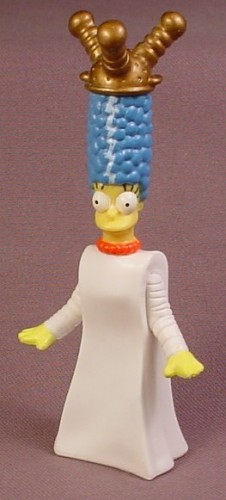 Burger King 2002 Marge As The Bride of Frankenstein PVC Figure, 4 3/8 Inches Tall, Creepy