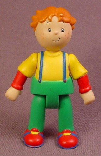 Caillou Articulated Leo Figure, 3 1/2 Inches Tall, Green Pants, Yellow Shirt