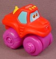 Playskool Tonka Wheel Pals Red Steam Roller Truck With Purple Wheels, 2 1/4 Inches Long