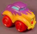 Playskool Tonka Wheel Pals Purple Flamed Classic Hot Rod Car, 4 Inches Long, 2005 Hasbro