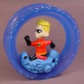 Disney The Incredibles Wind Up Dash Toy, Wind Up & Place The Dash Figure In The Wheel & They Roll