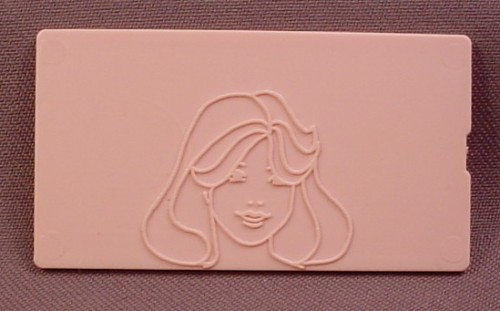 Replacement Pink 1978 Tomy Fashion Plate, 1 1/2 Inches By 2 3/4 Inches, Double Sided