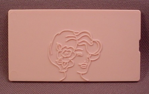 Replacement Pink Tomy 1978 Fashion Plate, 1 1/2 Inches By 2 3/4 Inches, Double Sided