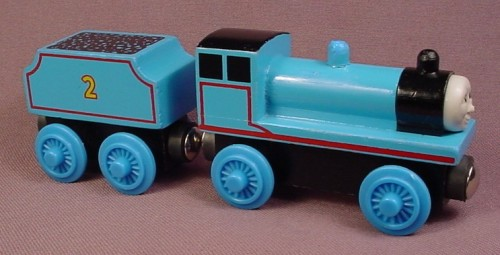 Thomas The Tank Engine Wooden Railway 1996 Edward Engine Tender Flat Painted Roof