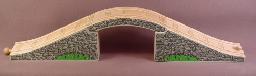 Thomas Friends Wooden Railway Clickity Clack 3 Piece Arched Stone Bridge