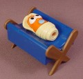 Veggie Tales Baby Lou Carrot As Baby Jesus In The Manger Figure, 1 1/2 Inches Tall By 2 1/8