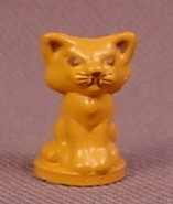 Polly Pocket 1989 Orange Tan Cat With Dark Brown Features, From Polly's Town House Set