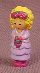 Polly Pocket 1989 Polly The Bridesmaid Doll Figure, From Bridesmaid Polly Yellow Compact