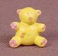 Polly Pocket 1989 Yellow Teddy Bear Toy, From Partytime Surprise Set #940451 or #10639