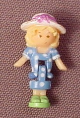 Polly Pocket 1990 Polly Doll Figure, From Garden Surprise Set #950051 or #11973