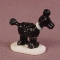 Polly Pocket 1990 Black French Poodle With White Collar, From Fifi's Parisian Apartment Set