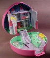 Polly Pocket 1992 Starlight Castle Pink Heart Compact, Gazebo Posts Stars & Moon Light Up