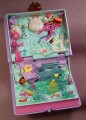Polly Pocket 1995 Sparkling Mermaid Adventure Book Compact, Enchanted Storybook Series