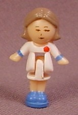 Polly Pocket 1990 Pixie The Hairdresser Doll Figure, From Polly's Hairdressing Salon #910581