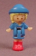 Polly Pocket 1991 Rainy Day Polly Doll Figure, From Funtime Clock Playset #952001 or #6428