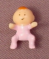 Polly Pocket 1992 Toby Baby Doll Figure, From Babysitting Stamper Set #952171 or #13763