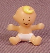 Polly Pocket 1992 Alice Baby Doll Figure, From Babysitting Stamper Set #952171 or #13763