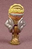 Polly Pocket 1992 Polly Doll Figure With Silver Jacket & Sunglasses, From Hollywood Hotel Set