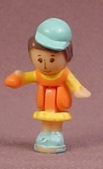 Polly Pocket 1992 Patty Or Miss Waitress Doll Figure, From Fast Food Restaurant Set #9383