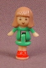 Polly Pocket 1993 Daria Doll Figure, From Holiday Toy Shop Pollyville Set #14472