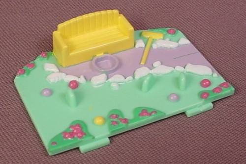 Polly Pocket 1992 Replacement Battery Cover, From Starlight Castle Playset #9348