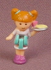 Polly Pocket 1993 Kelly or Bridget Doll Figure, From Pollyville Pizzeria Set #940311