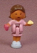Polly Pocket 1993 Torry or Meena Doll Figure, From Pollyville Pizzeria Set #940311