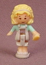 Polly Pocket 1993 Polly Doll Figure, From Pollyville Pet Shop Set #940271