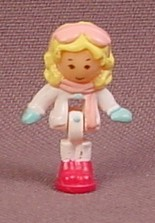 Polly Pocket 1993 Polly Doll Figure, From Pollyville Holiday Chalet Set & Also In The Ski Lodge