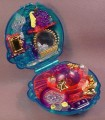 Polly Pocket 1996 Bubbly Bath Sparkle Surprise Compact, #16826, Does Not Have Stopper