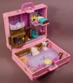 Polly Pocket 1996 Polly In Paris, Vacation Fun Series, Pink Suitcase, Polly's Paris Shopping