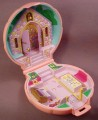 Polly Pocket 1989 Nancy's Wedding Day Pink Compact A, #930421, Wedding Chapel