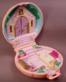 Polly Pocket 1989 Nancy's Wedding Day Pink Compact B, #930421, Color Has Faded