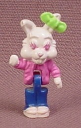 Polly Pocket 1994 Belinda or Bianca Bunny Figure, From Animal Wonderland Rabbit House