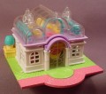 Polly Pocket 1994 Light Up Bridal Salon, #950281, Clear Atrium Roof, Rooftop Garden