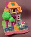 Polly Pocket 1994 Animal Wonderland Giraffe House, #951641 or #13857, Big G's Treetops